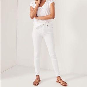 White Abercrombie Skinny Jeans